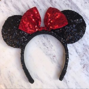 Authentic Disney Parks Sequin Minnie Ear Headband